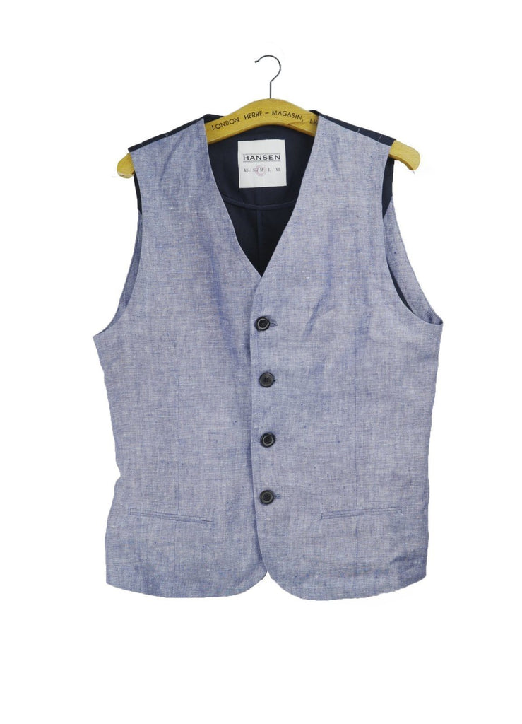 DANIEL | Classic Casual Vest | Light Blue | €200 -HANSEN Garments- HANSEN Garments