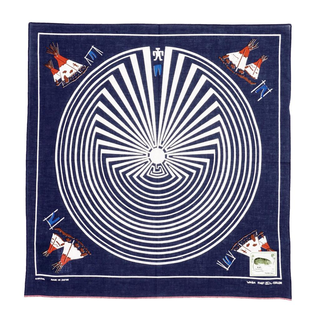 DENIM MAN IN MAZE | Fast Color Selvedge Bandana | Navy | €40 -Kapital- HANSEN Garments