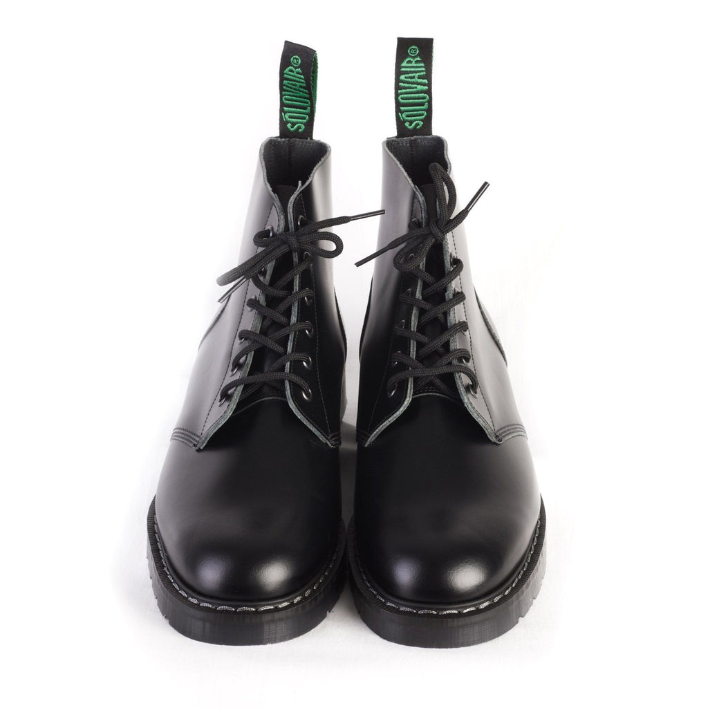 DERBY BOOT | 6 Eye | Black | €199 -Solovair- HANSEN Garments