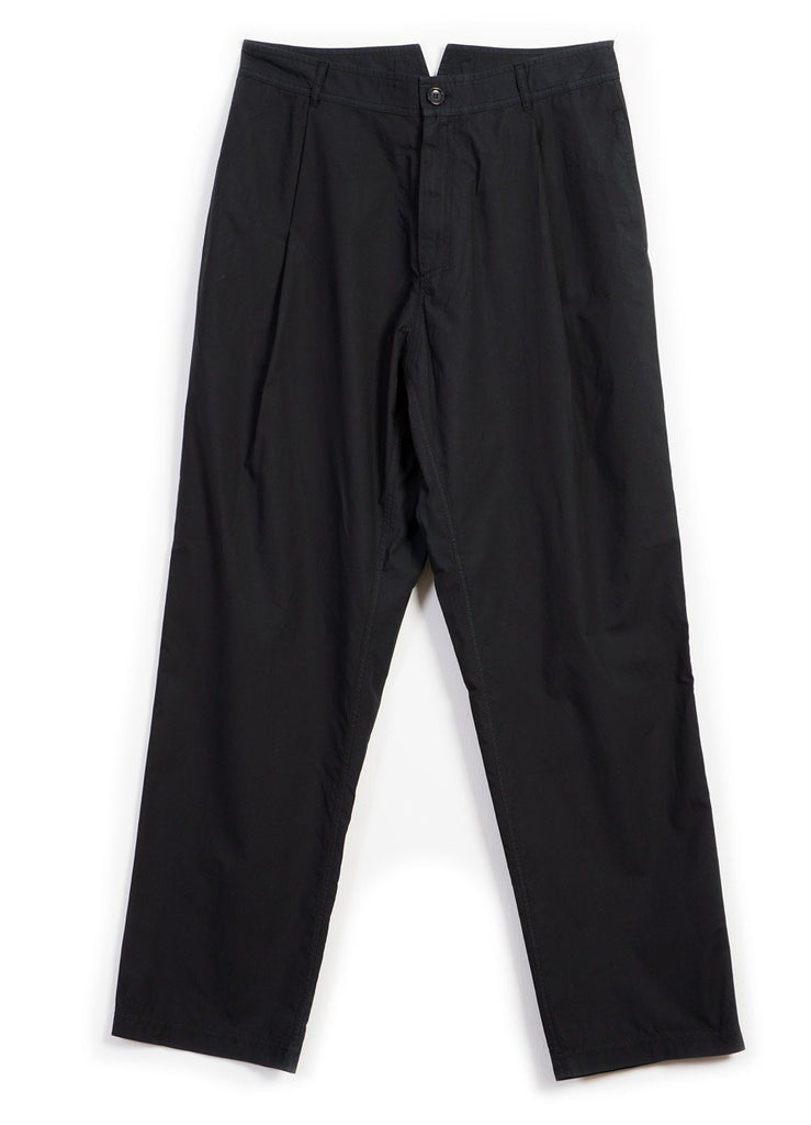 EIGIL | Light Wide Cut Summer Trousers | Black -HANSEN Garments- HANSEN Garments