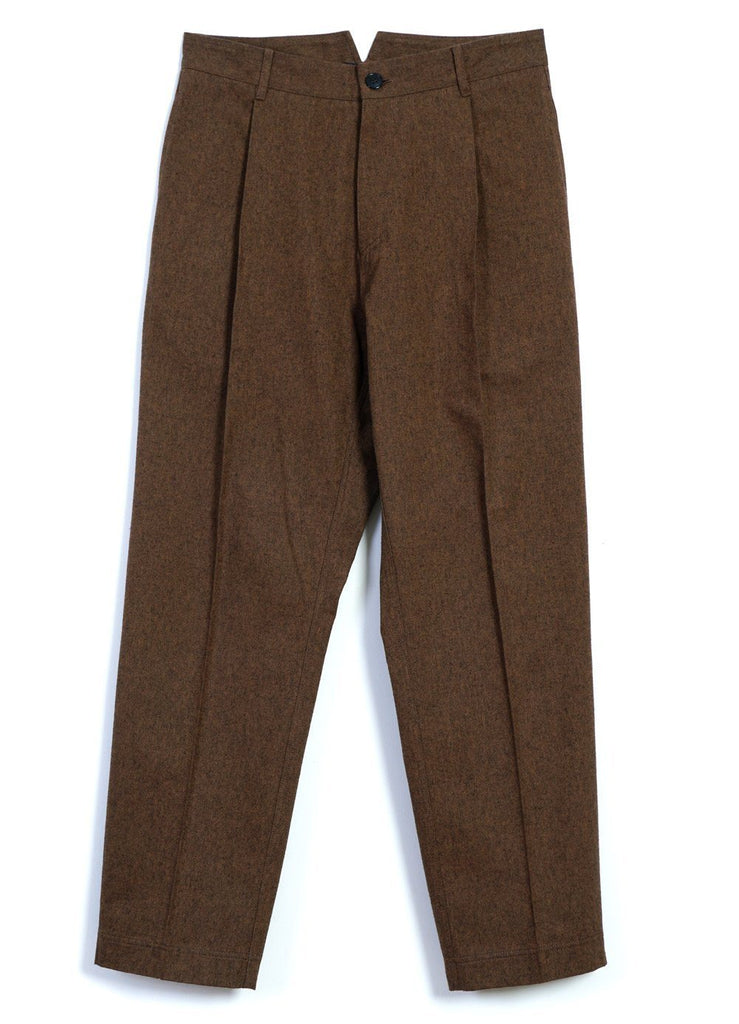 HANSEN Garments - EIGIL | Wide Cut Pleated Trousers | Caramel - HANSEN Garments