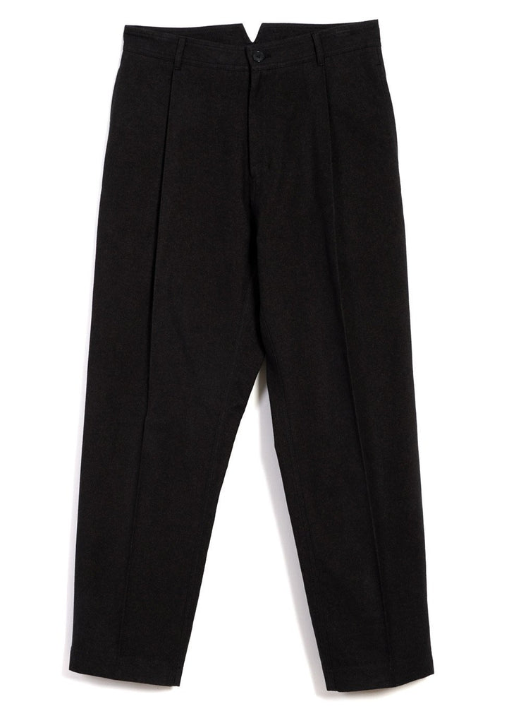 HANSEN Garments - EIGIL | Wide Cut Pleated Trousers | Nero - HANSEN Garments