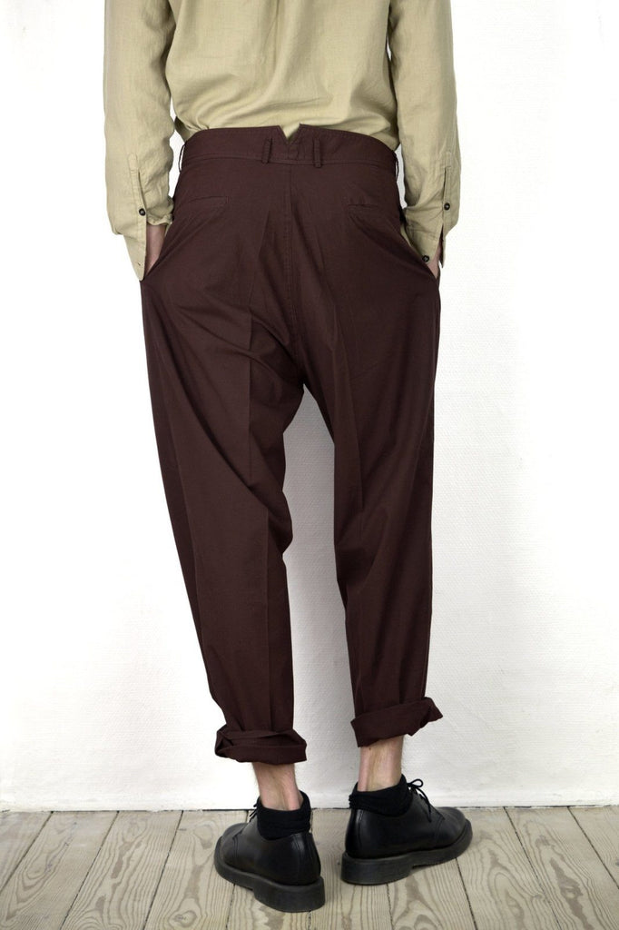 EIGIL | Wide Fit Trousers | Dark Rust | €185 -HANSEN Garments- HANSEN Garments