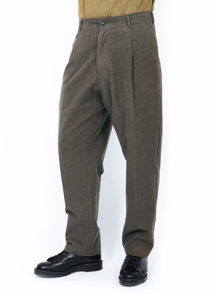 EIGIL | Wide Work Trousers | Taupe | €240 -HANSEN Garments- HANSEN Garments