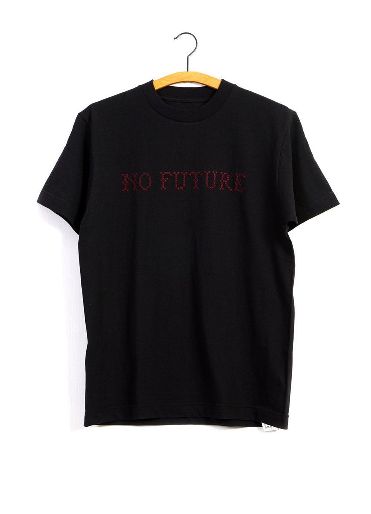 EMBROIDERY T | No Future | Red on Black | €120 -MOUNTAIN RESEARCH- HANSEN Garments
