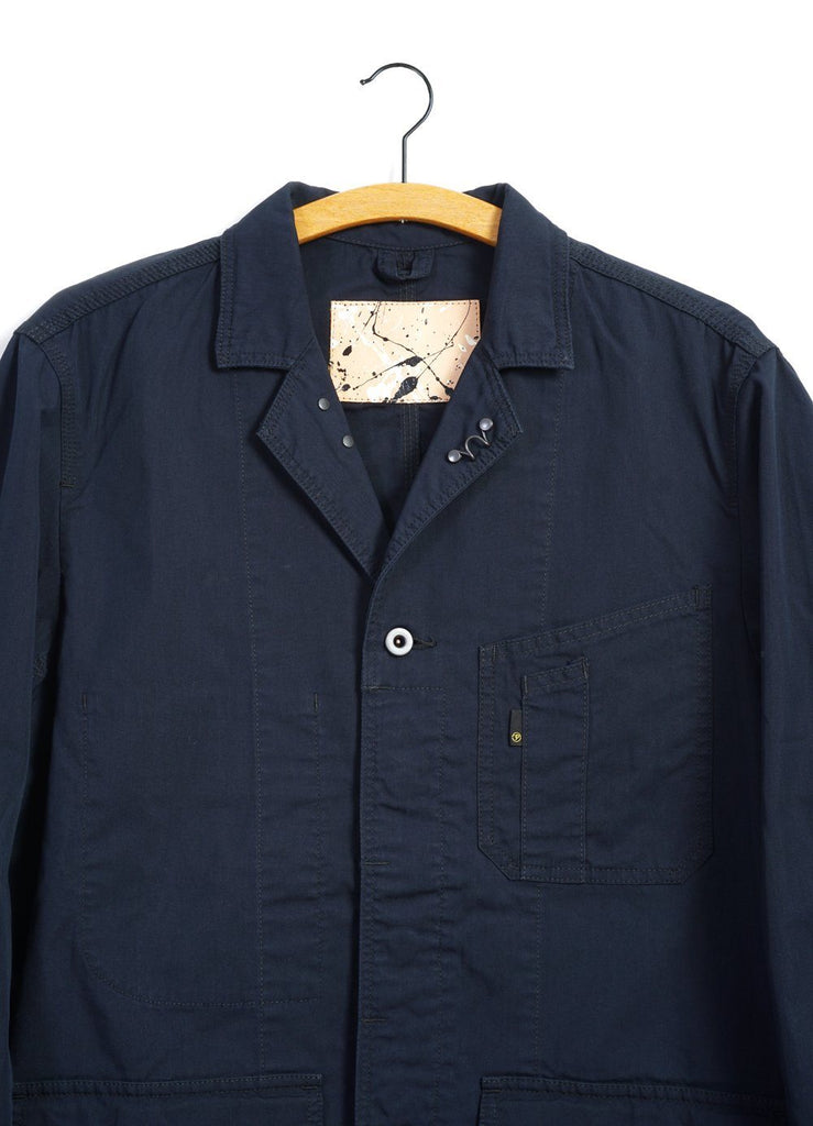 ENGINEER JACKET | Chambray | Navy Black | €280 -PALLET LIFE STORY- HANSEN Garments