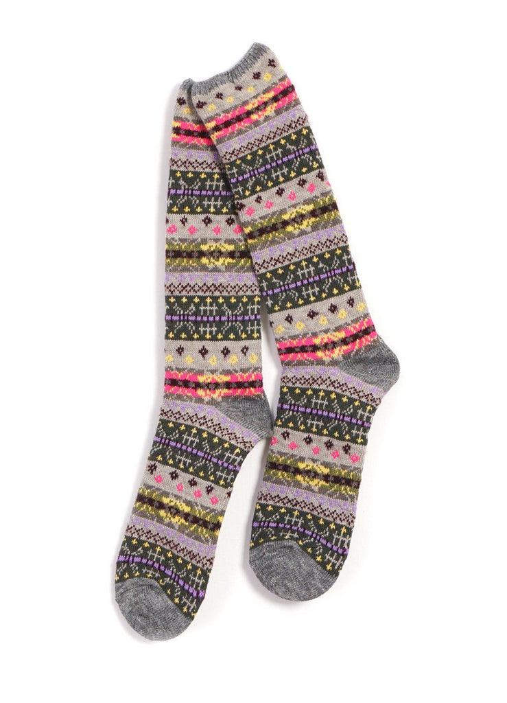 Kapital - FAIR ISLE SOCKS | 96 Yarns | Gray - HANSEN Garments