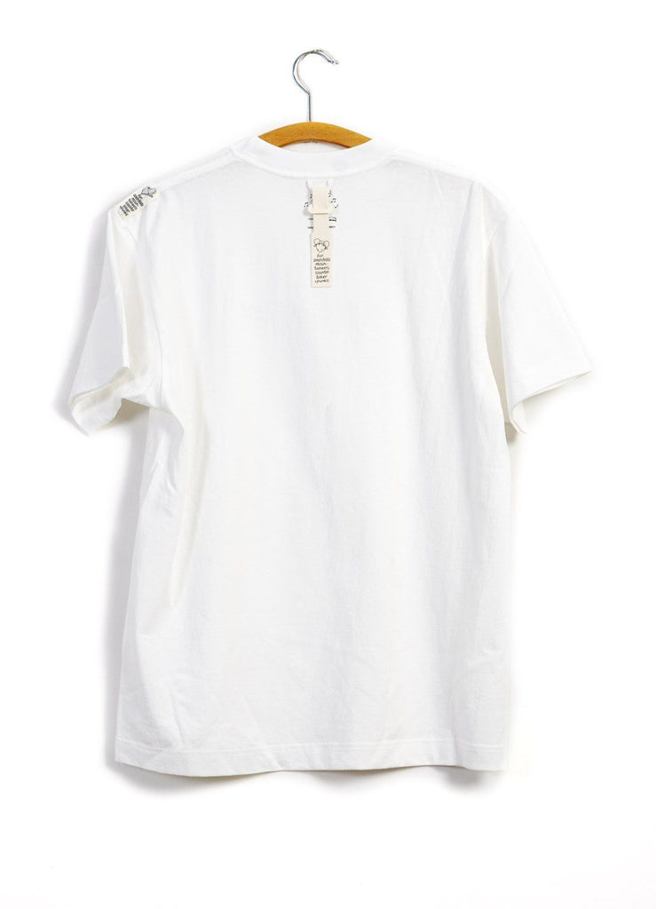 FAVORITE TRACK T | Don't Believe The Hype | White | €115 -MOUNTAIN RESEARCH- HANSEN Garments