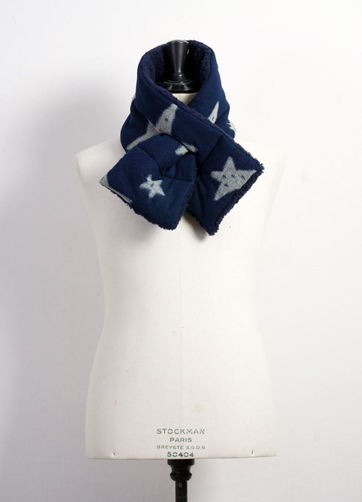 FLANNEL STAR x BOA FLEECE | Kesa Scarf | Indigo | €150 -Kapital- HANSEN Garments