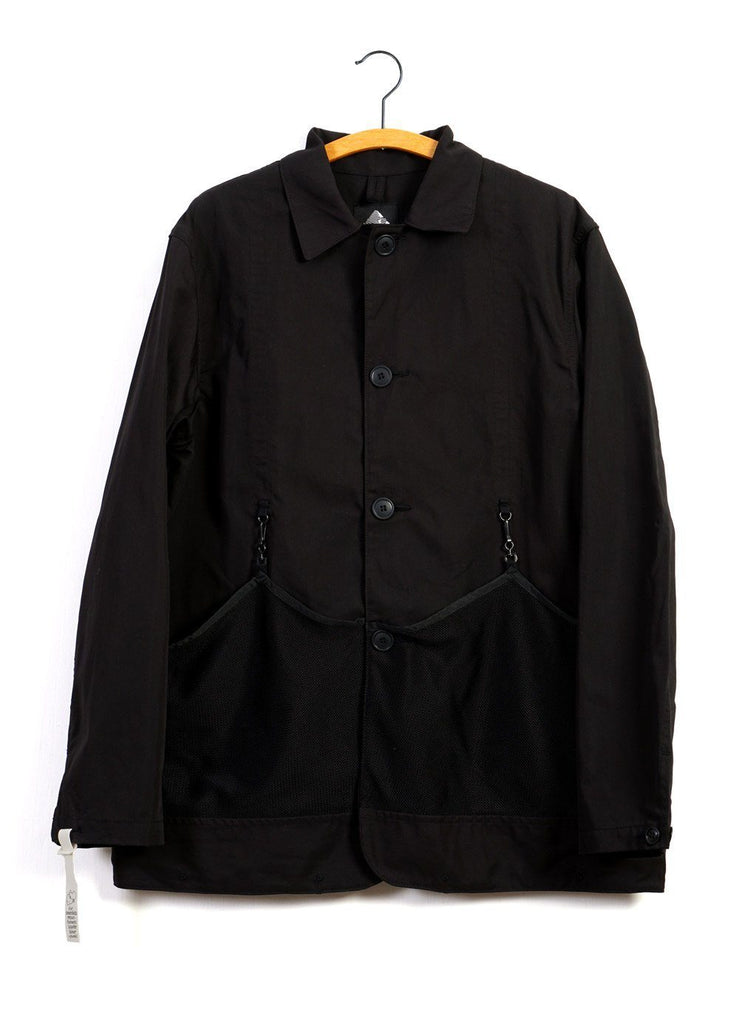 FLOWER CARRY JACKET | Mesh Pockets | Black | €510 -MOUNTAIN RESEARCH- HANSEN Garments