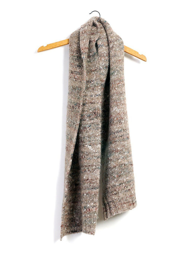 HANSEN Garments - FRANS | Chunky Knitted Scarf | Beigetweed - HANSEN Garments