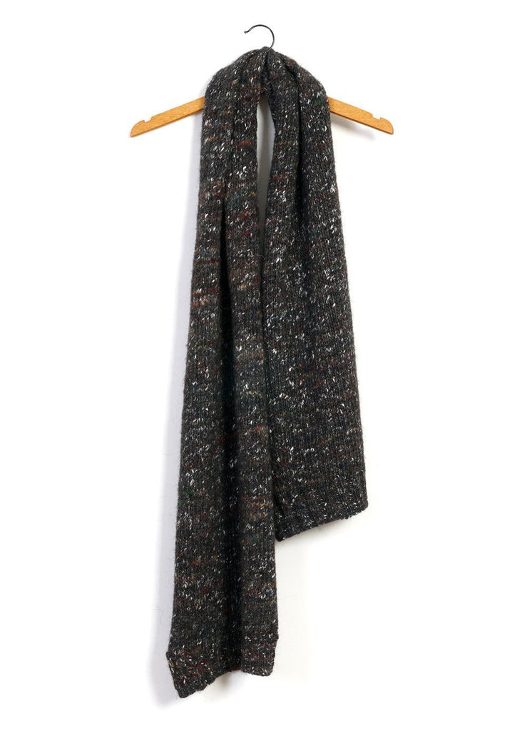 HANSEN Garments - FRANS | Chunky Knitted Scarf | Browntweed - HANSEN Garments
