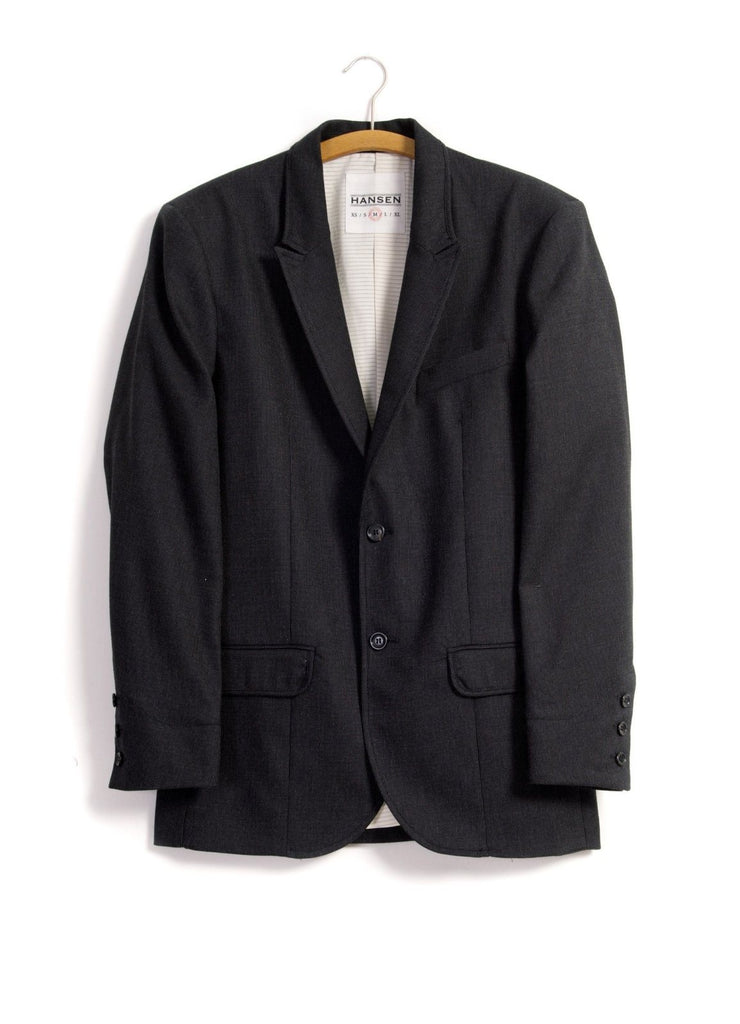 FREDE | Pointed Lapel 2-Button Blazer | Slate | €430 -HANSEN Garments- HANSEN Garments