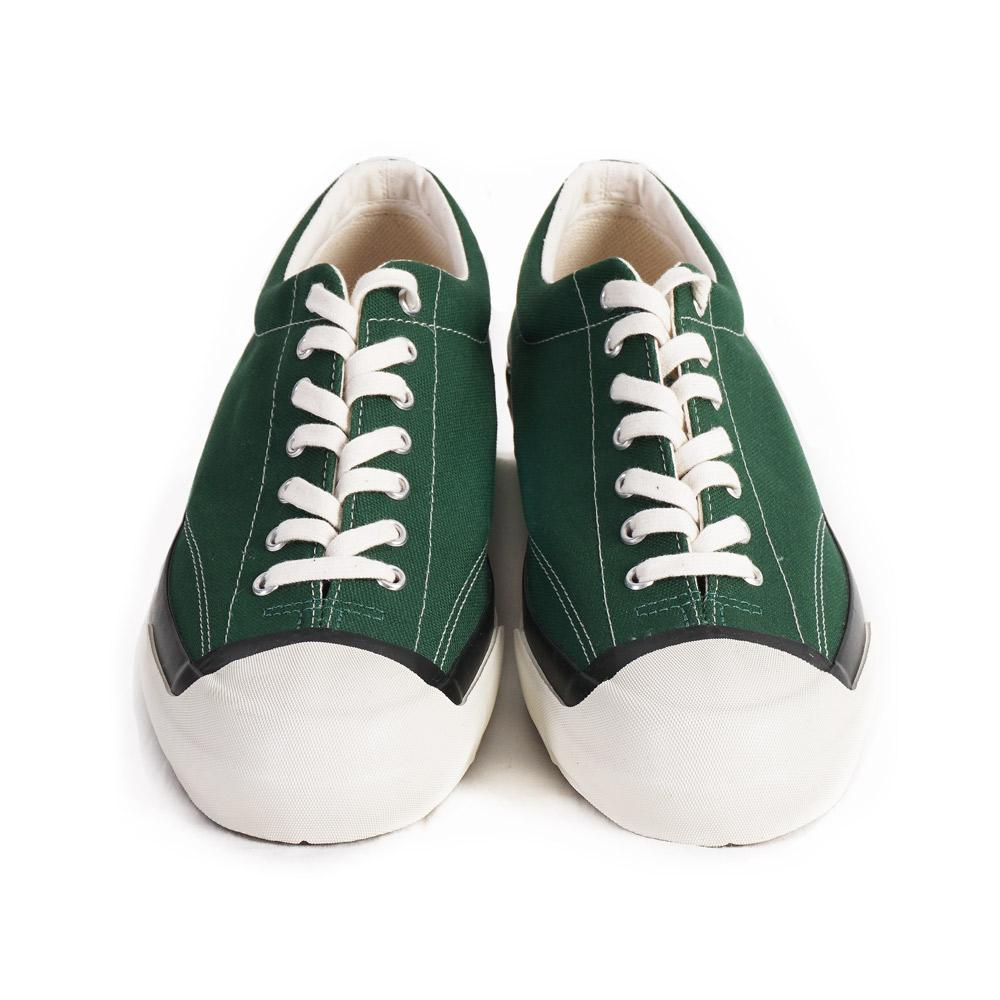 GYM COURT | Canvas Vulcanised Sole Sneaker | Green | €165 -Moon Star- HANSEN Garments