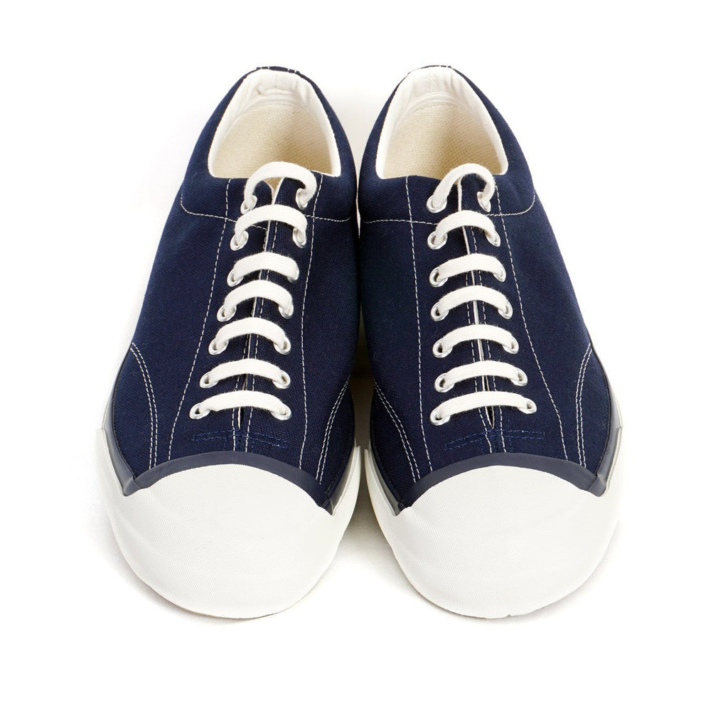 GYM COURT | Canvas Vulcanised Sole Sneaker | Navy | €165 -Moon Star- HANSEN Garments