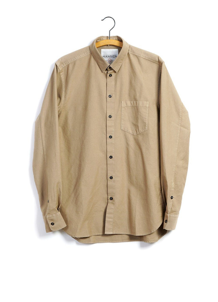 HANSEN Garments - HAAKON | Hidden Button Down Shirt | Gobi - HANSEN Garments