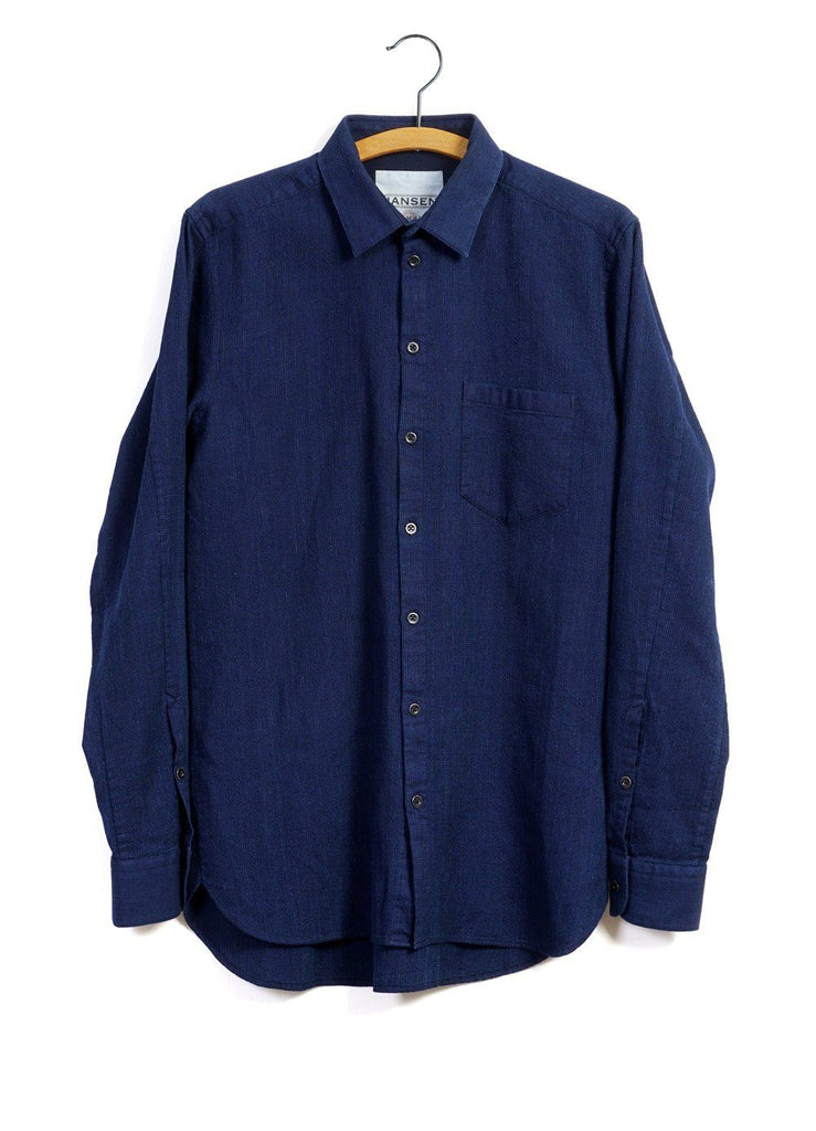 HAAKON | Hidden Button-down Shirt | Indigo | €200 -HANSEN Garments- HANSEN Garments