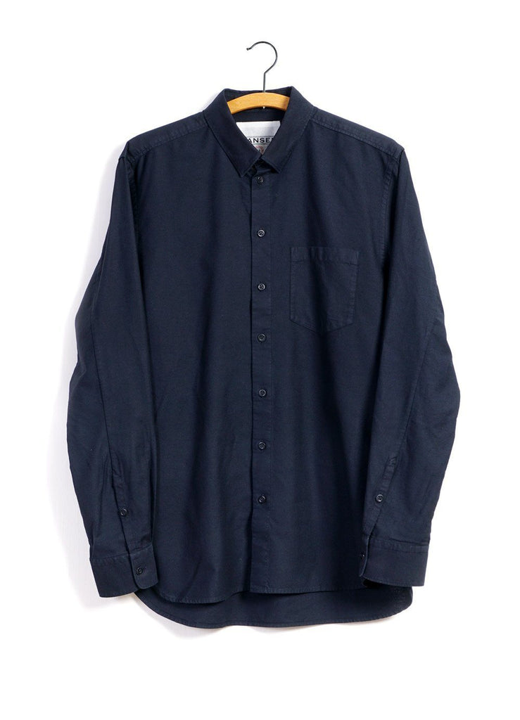 HANSEN Garments - HAAKON | Hidden Button Down Shirt | Navy - HANSEN Garments