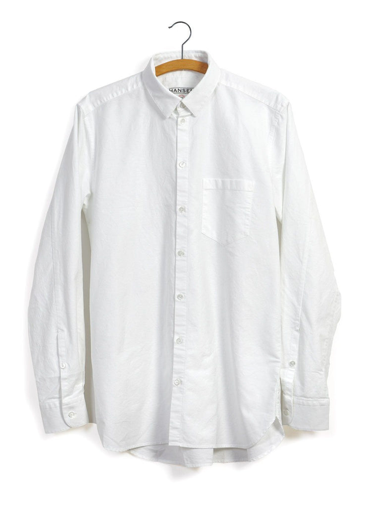 HANSEN Garments - HAAKON | Hidden Button Down Shirt | White - HANSEN Garments