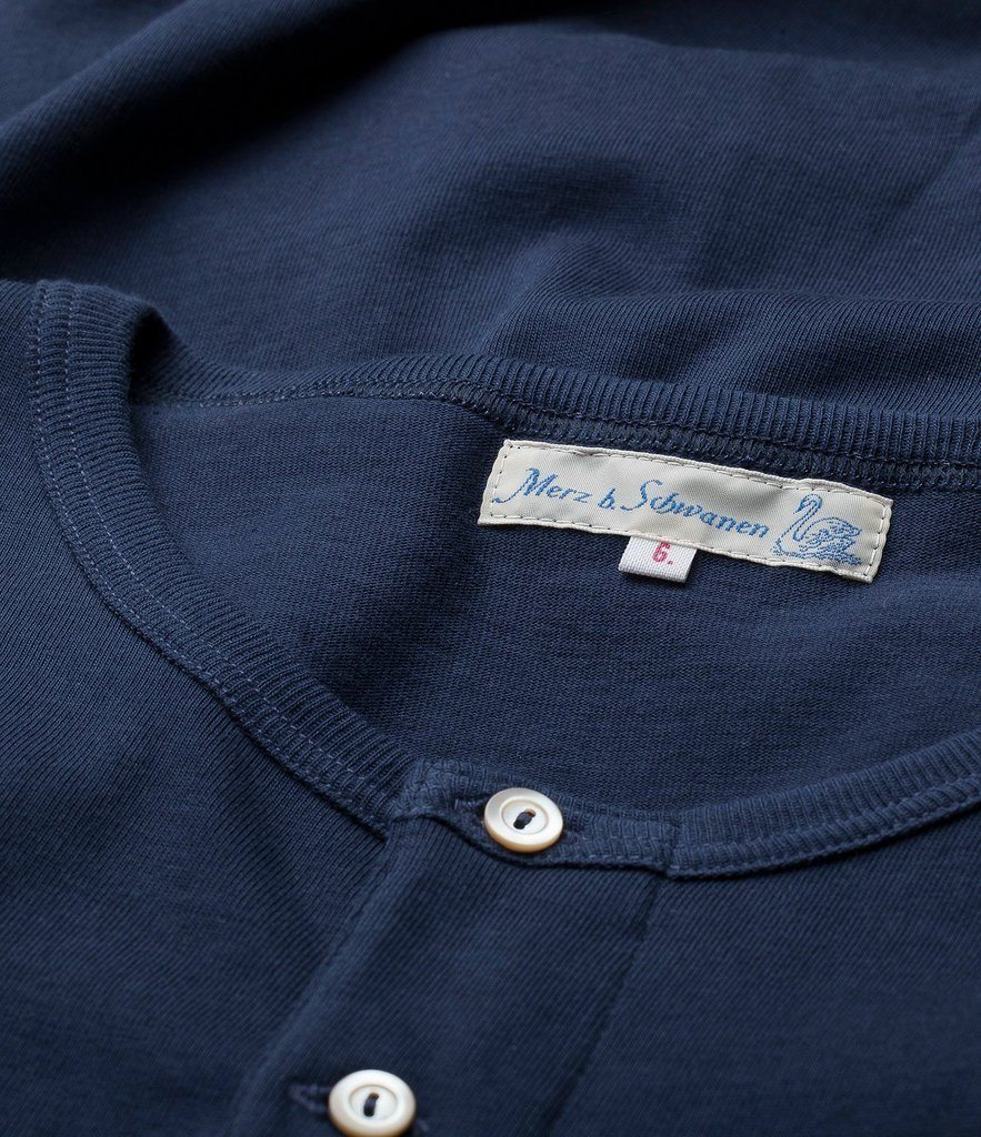 HENLEY | Organic Short Sleeve T-Shirt | Ink Blue | €80 -MERZ B. SCHWANEN- HANSEN Garments