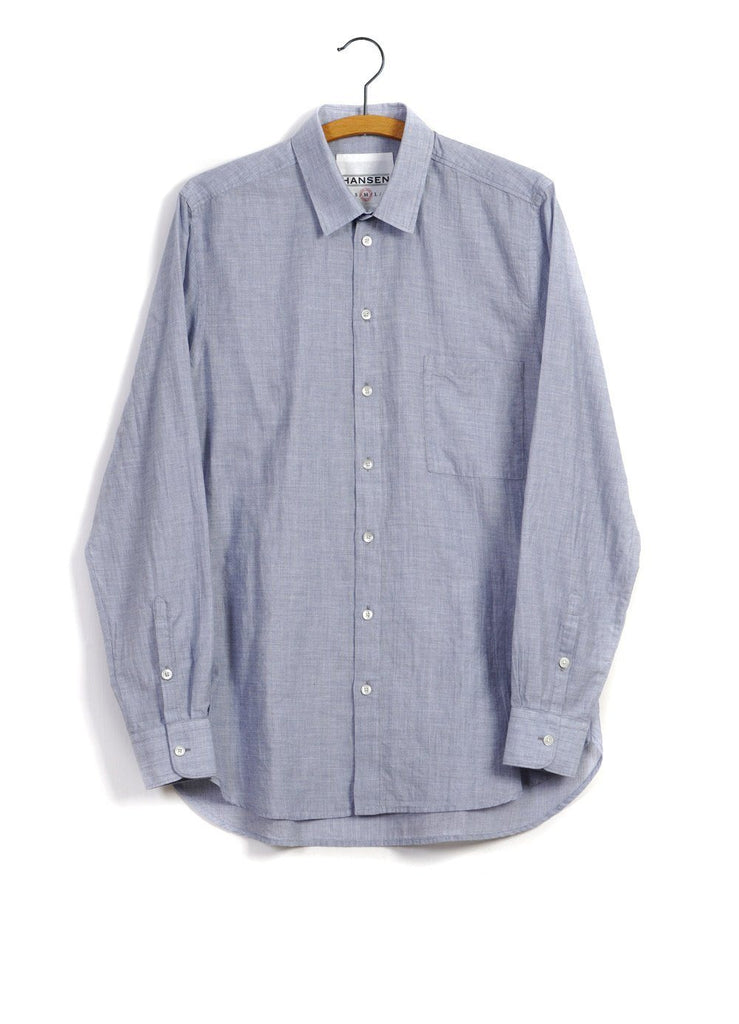 HENNING | Casual Classic Shirt | Blue -HANSEN Garments- HANSEN Garments