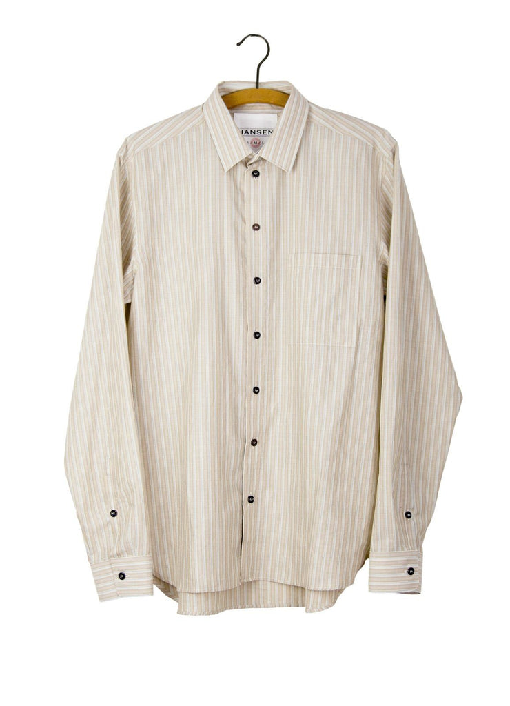 HENNING | Casual Classic Shirt | Cognac Striped | €185 -HANSEN Garments- HANSEN Garments