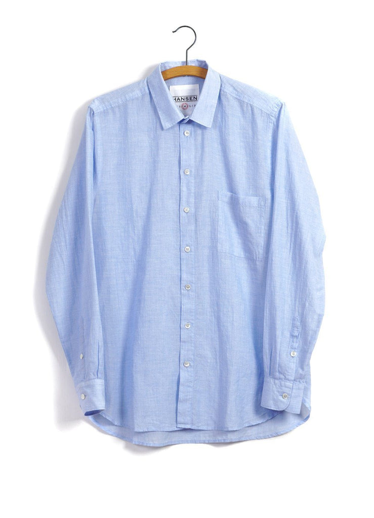 HENNING | Casual Classic Shirt | Sky Blue -HANSEN Garments- HANSEN Garments