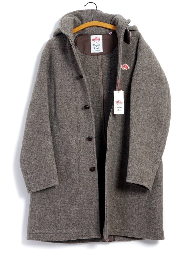 DANTON - HOODED LONG COAT | Beige - HANSEN Garments
