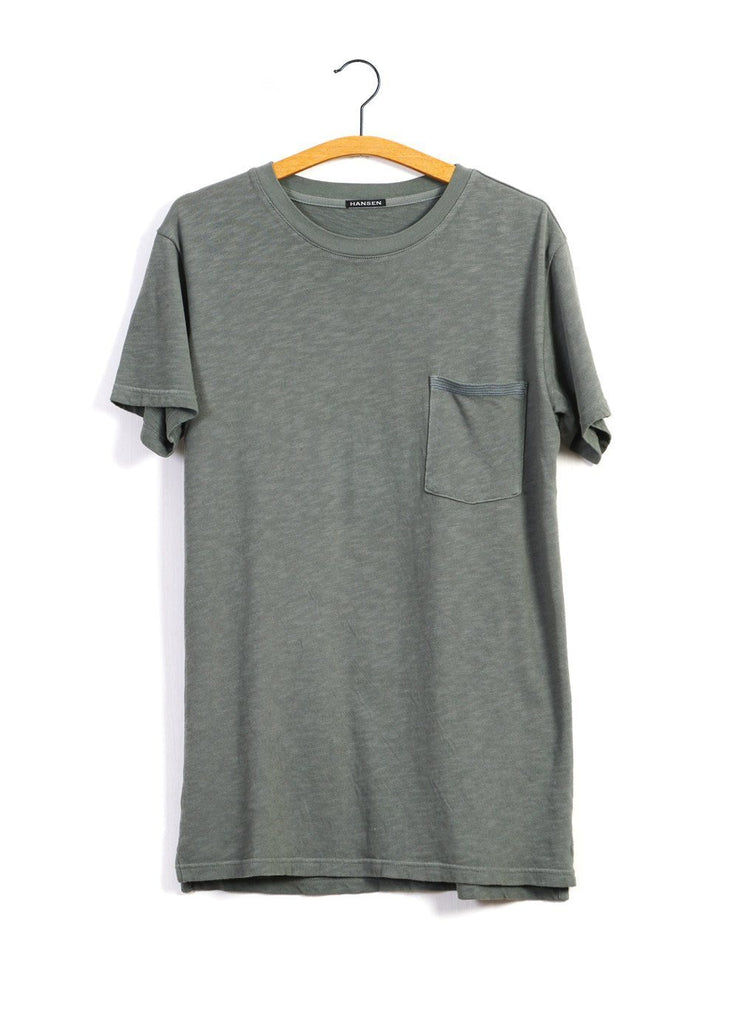 JAMES | Slub Yarn Pocket T | Moss -HANSEN Garments- HANSEN Garments