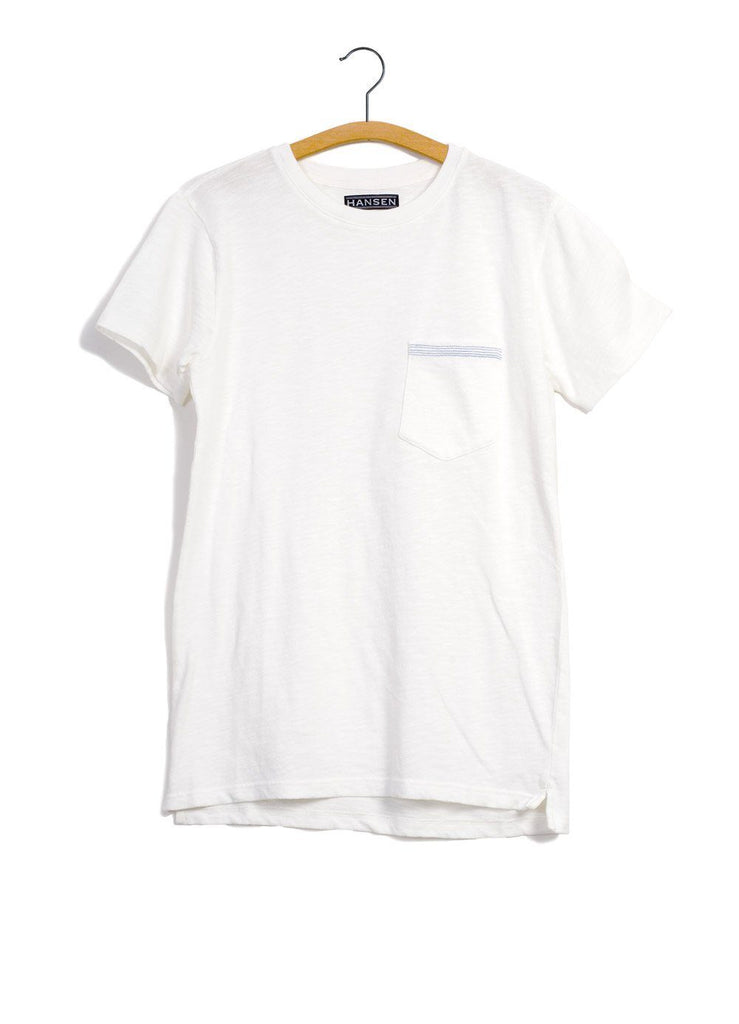 JAMES | Slub Yarn Pocket T| White -HANSEN Garments- HANSEN Garments