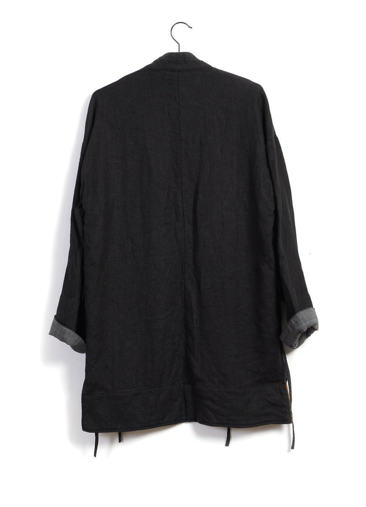 JAPANESE FARMER COAT | Heavy Linen | Black | €470 -KAI D- HANSEN Garments