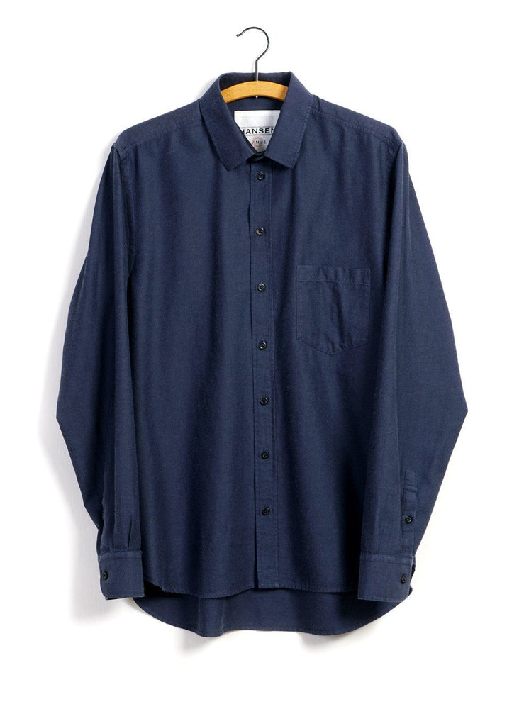 HANSEN Garments - JESPER | Casual Everyday Shirt | Indigo - HANSEN Garments