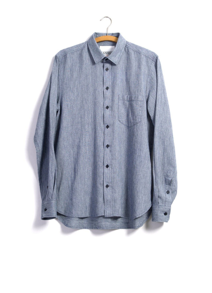 JESPER | Casual Shirt | Blue Grain | €170 -HANSEN Garments- HANSEN Garments