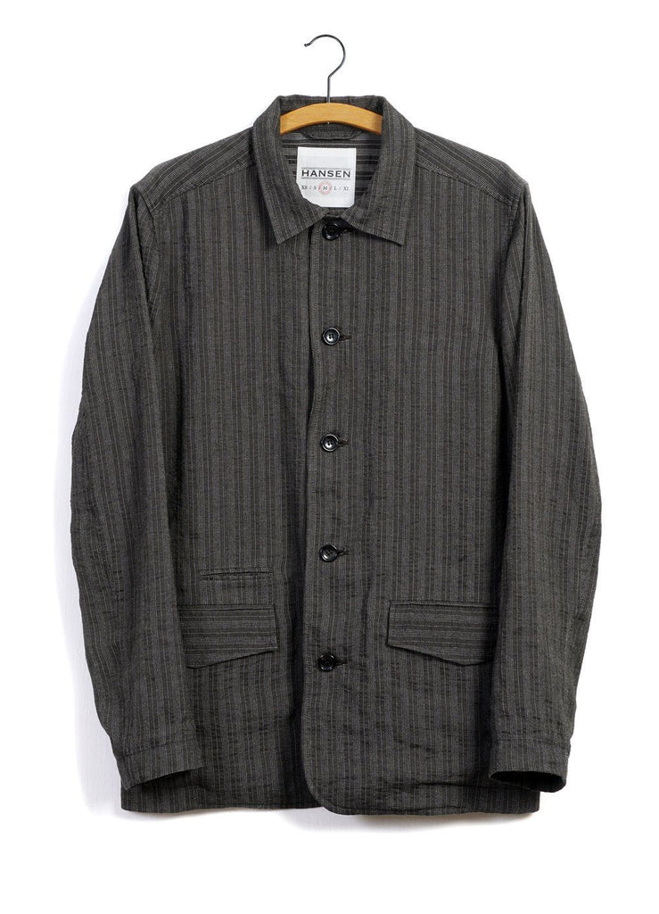 JOHANNES | Casual Blazer Jacket | Taupe Stripes -HANSEN Garments- HANSEN Garments