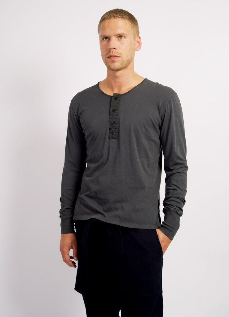 JONAS | Long Sleeved Henley | Hurricane | €80 -HANSEN Garments- HANSEN Garments