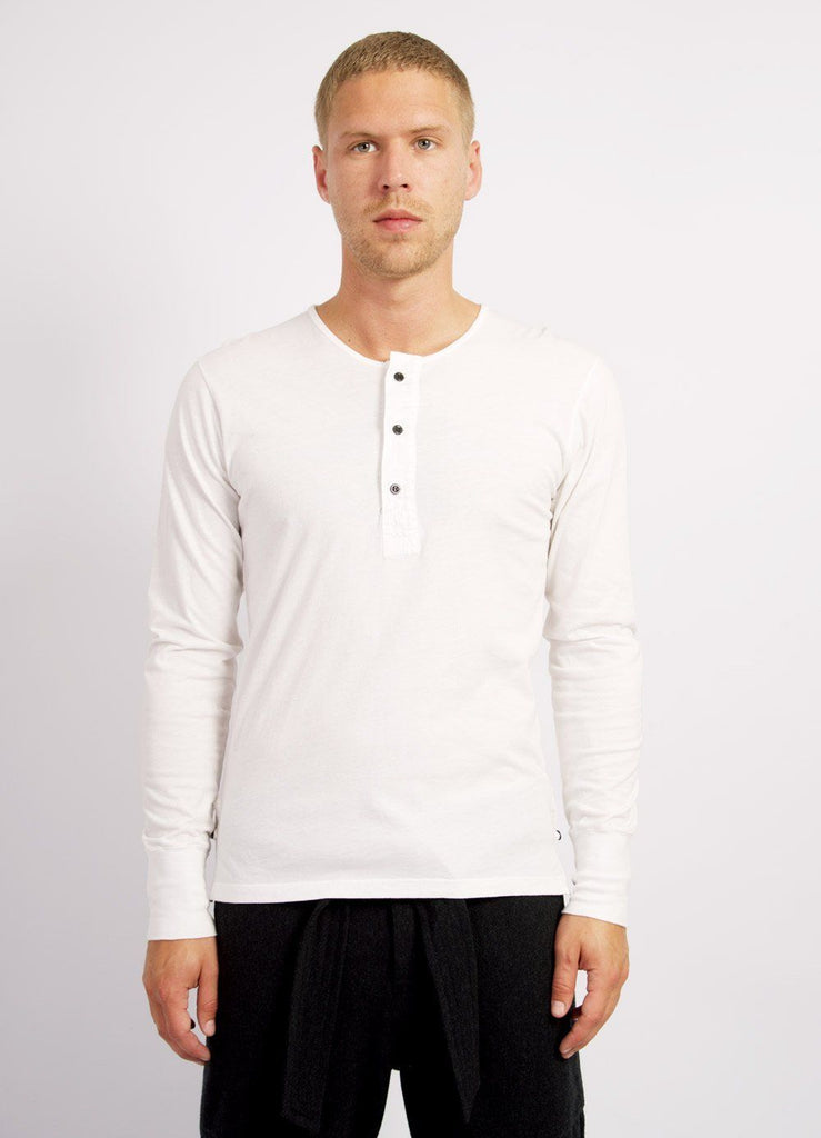 JONAS | Long Sleeved Henley | White | €80 -HANSEN Garments- HANSEN Garments
