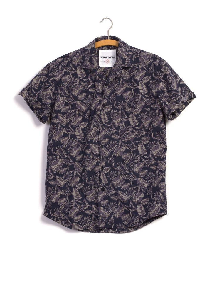 JONNY | Printed Short Sleeve Shirt | Jungleplant | €200 -HANSEN Garments- HANSEN Garments