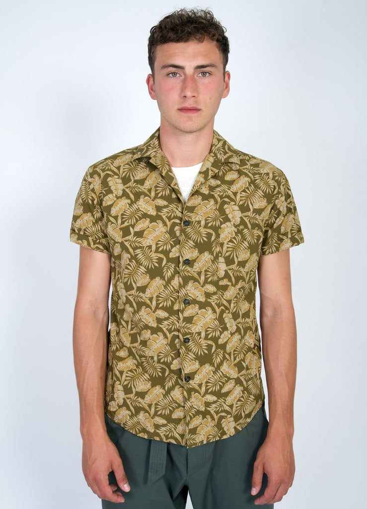 JONNY | Printed Short Sleeve Shirt | Khakiplant | €200 -HANSEN Garments- HANSEN Garments