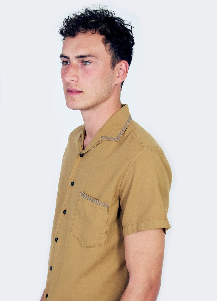 JONNY | Short Sleeve Shirt | Gold | €160 -HANSEN Garments- HANSEN Garments