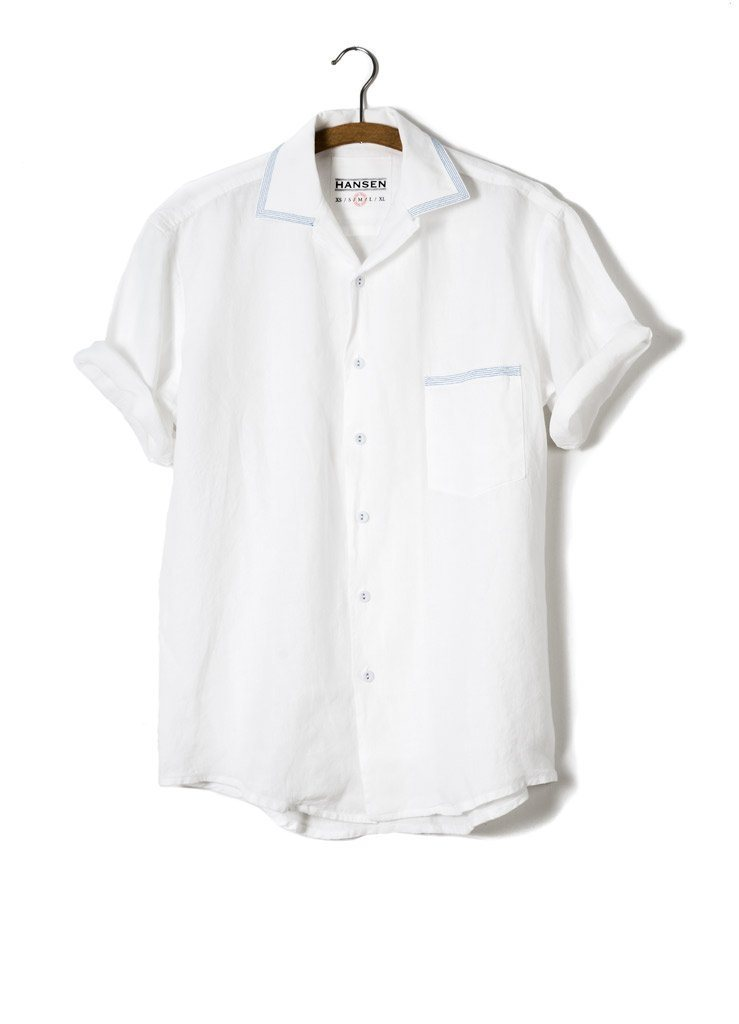 JONNY | Short Sleeve Shirt | White | €160 -HANSEN Garments- HANSEN Garments