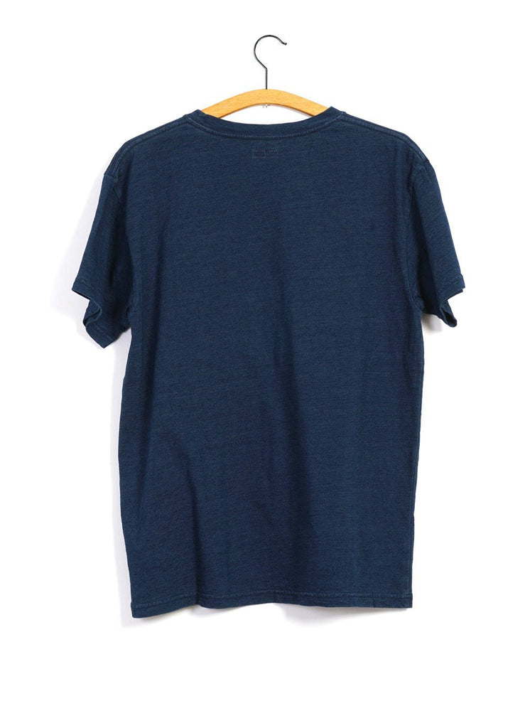 kapital-indigo-mirrowed-fuji-smilie-t-shirt
