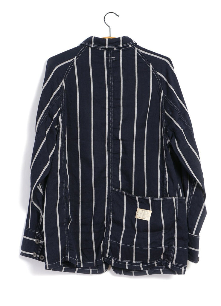 CACTUS | Linen PHILLIES Stripe Coverall | Navy