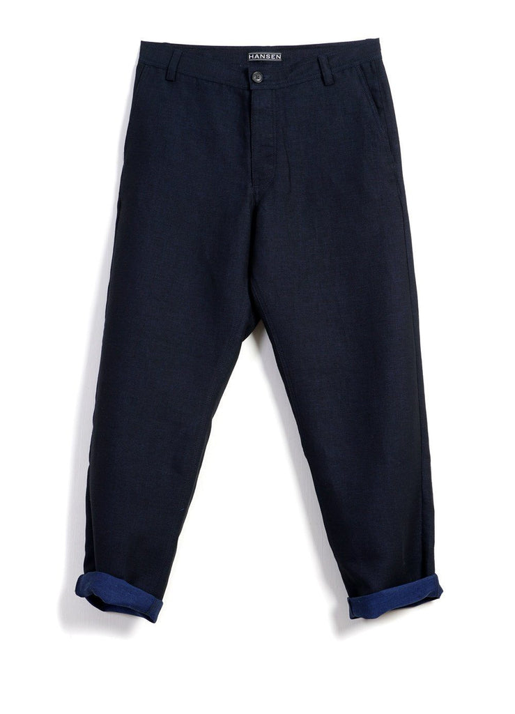KEN | Wide Cut Trousers| 3-Tone Blue -HANSEN Garments- HANSEN Garments