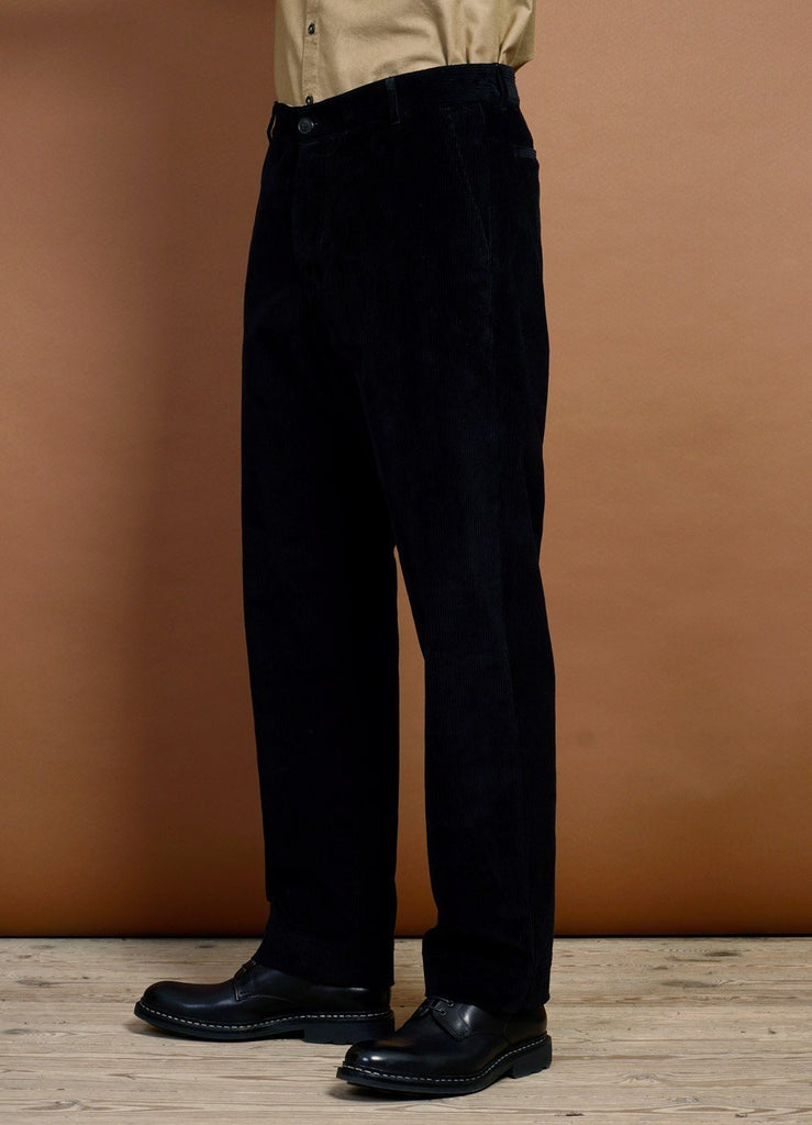 HANSEN Garments - KEN | Wide Cut Trousers | Black - HANSEN Garments