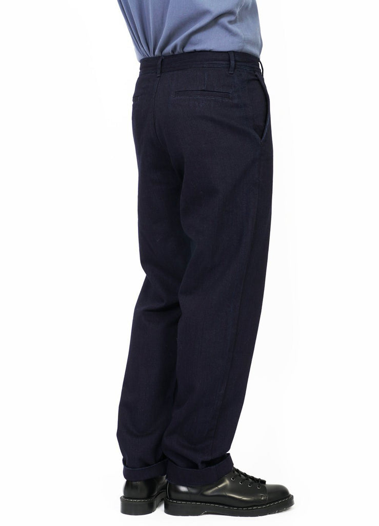 KEN | Wide Cut Trousers | Black Indigo | €200 -HANSEN Garments- HANSEN Garments