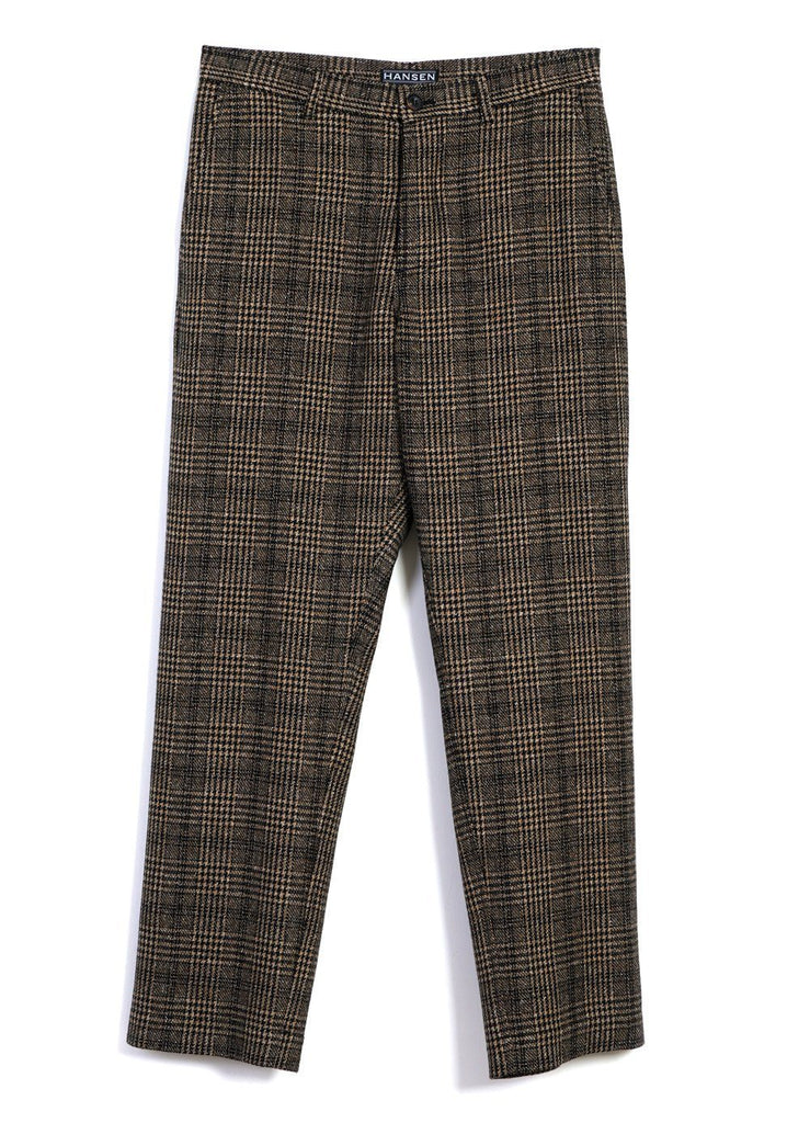 HANSEN Garments - KEN | Wide Cut Trousers | Checkered - HANSEN Garments