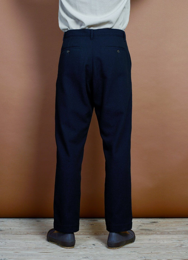 HANSEN Garments - KEN | Wide Cut Trousers | Deep Indigo - HANSEN Garments