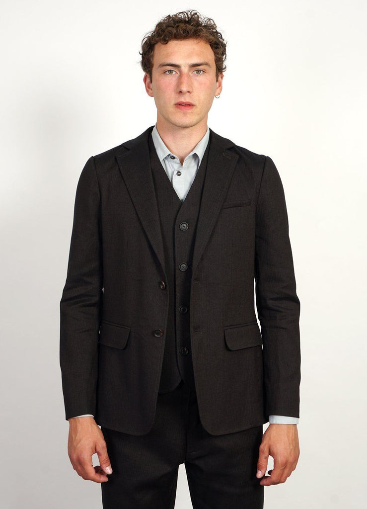 KRISTIAN | Two Button Blazer | Coffee Melange -HANSEN Garments- HANSEN Garments