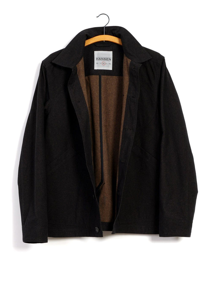 HANSEN Garments - LAURITZ | Refined Work Jacket | Nero - HANSEN Garments