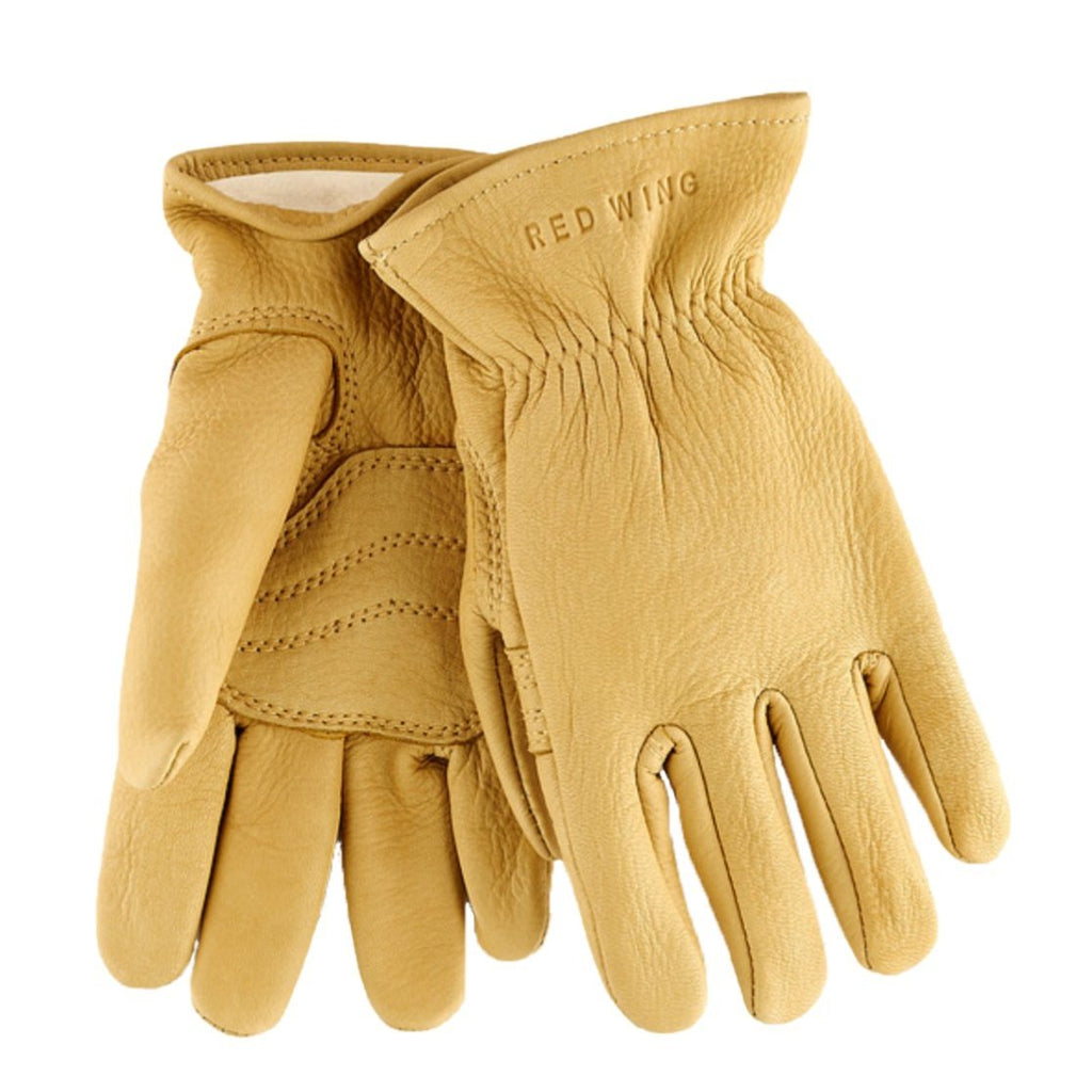 RED WING - LEATHER GLOVE | Lined Buckskin | Yellow - HANSEN Garments